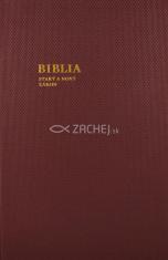 Biblia - katolícka, veľký formát (bordová) - Starý a Nový zákon