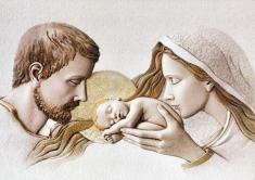 Obraz na dreve: Svätá rodina (30x20)