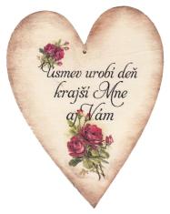 Drevené srdce: Úsmev urobí deň krajší...