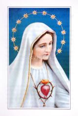 Skladačka: Nepoškvrnené srdce Panny Márie - s modtlitbou zasvätenia, papierová