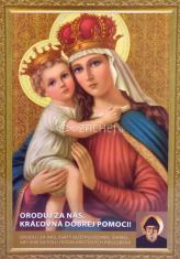 Obrázok: Kráľovná dobrej pomoci (A5) - s modlitbou, papierový
