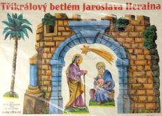 Tříkrálový betlém Jaroslava Heraina - Vystřihovací betlém