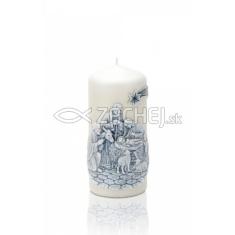 Sviečka 260g Christmas Night 60x130 valec - perla mat