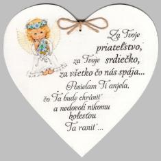 Drevené srdce: Za Tvoje priateľstvo...