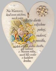 Drevené srdce: Na Vianoce, keď svet stíchne...(vločka)