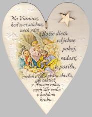 Drevené srdce: Na Vianoce, keď svet stíchne...(hviezda)