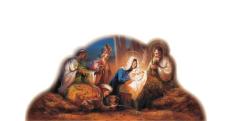 Betlehem: papierový výsek (BW-079)