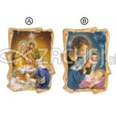 Magnetka: Svätá rodina - vianočná, drevená (MZ009)