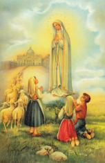 Obraz na dreve: Panna Mária Fatimská (40x30)