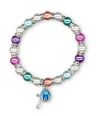 Náramok: desiatok s medailónom - perleť (3637)