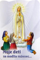 Skladačka: Moje deti sa modlia ruženec... - Tajomstvá ruženca, laminovaná