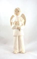 Socha: Anjel sadrový (139) chlapec