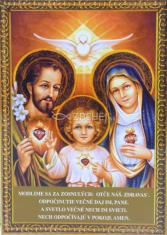 Obrázok: Svätá rodina (A6) - Modlitba za šťastnú smrť, laminovaný