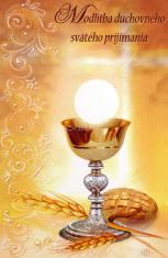 Obrázok: Duchovné sv. prijímanie - Modlitba duchovného sv. prijímania, laminovaný