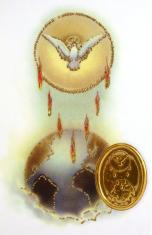 Kartička: Sedem darov Ducha Svätého (RCC) - s modlitbou, plastová