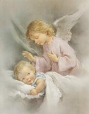 Plagát: Anjel (SF001) - Anjel strážny uspávajúci dieťatko
