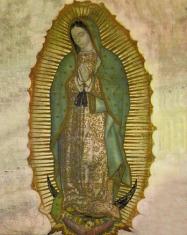 Obraz na dreve: Panna Mária Guadalupská (25x20) (ODZ015)