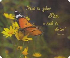 Podložka pod myš: Nech ťa žehná Pán... - s biblickým citátom