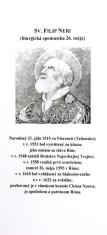 Záložka + litánie: Sv. Filip Neri