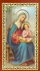 Obrázok: Sv. Anna (ISK026) - s modlitbou, pozlátený, papierový