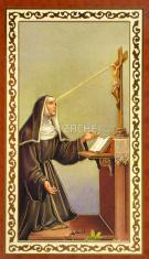 Obrázok: sv. Rita (ISK025) - s modlitbou, pozlátený, papierový