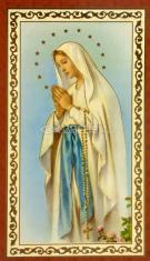 Obrázok: Panna Mária (ISK021) - s modlitbou, pozlátený, papierový
