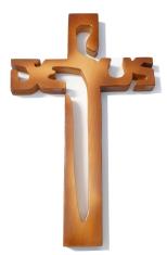 Kríž: drevený JESUS - melír (221)