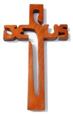 Kríž: drevený JESUS - čerešňa (221)