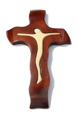 Kríž: drevený - mahagón, malý (247)