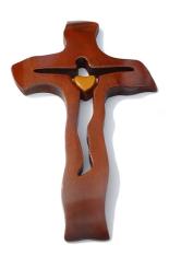 Kríž: drevený - mahagón (234)