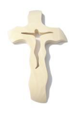 Kríž: drevený, prírodný - malý (200)