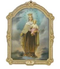 Obrázok na dreve: Panna Mária Škapuliarska (ODZ018)
