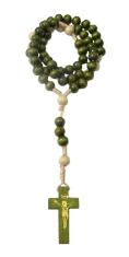 Ruženec: drevený na šnúrke - zelený (RKZ021)