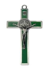 Kríž: kovový, Benediktínsky - zelený (K2063S)