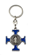 Kľúčenka: Benediktínska - modrá, kovová (KP014NS)