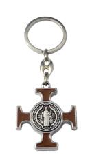 Kľúčenka: Benediktínska - hnedá, kovová (KP014NS)