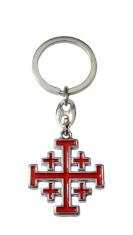 Kľúčenka: Jeruzalemský kríž, kovová (KP013NSč.)