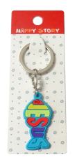 Kľúčenka gum. (KC057A) Rybka s nápisom Jesus - modrá
