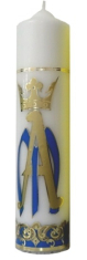 Sviečka 700g zdobená č.2 - biela