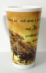 Hrnček latte - biely s kresťanským citátom (4)