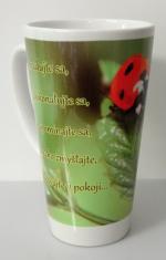 Hrnček latte - biely s kresťanským citátom (3)