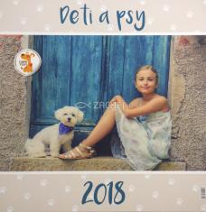 Kalendár 2018 Deti a psy (nástenný)