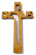 Kríž: drevený JESUS - dub (221)
