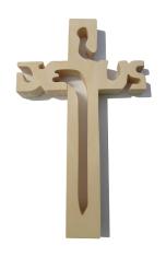 Kríž: drevený JESUS - prírodný (243)
