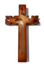 Kríž: drevený JESUS - melír (243)