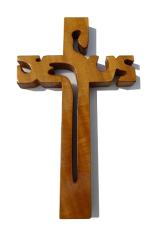 Kríž: drevený JESUS - dub (243)