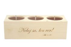 Svietnik: drevený - Neboj sa, len ver! (139)