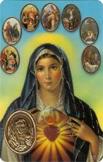 Kartička: Sedembolestná Panna Mária (RCC 784 SK) - Ruženec k Sedembolestnej, plastová
