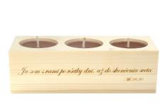 Svietnik: drevený - Ja som s vami po všetky dni... (139)