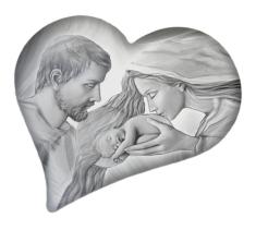 Obraz na dreve: Sv. rodina - srdce (ODZ033)